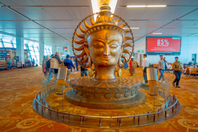 Indira Gandhi Airport T3 was opened in 2010 and is one of the biggest in the world.